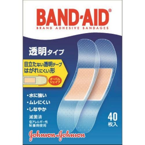 バンドエイド 救急絆創膏 透明タイプ 40枚入