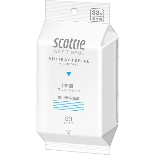 スコッティ ウェットティシュー 除菌 アルコールタイプ 33枚入