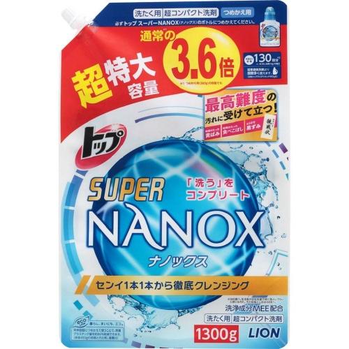 トップ スーパー ナノックス NANOX 詰替え 超特大サイズ 1300g